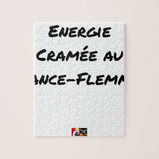 Puzzle ÉNERGIE CRAMÉE AU LANCE-FLEMME - Jeux de mots