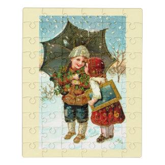 Puzzle Enfants dans la neige