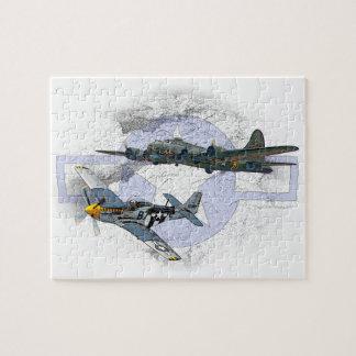 Puzzle Escorte de vol du mustang P-51