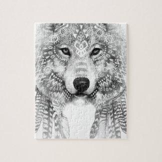 Puzzle Esprit tribal de loup