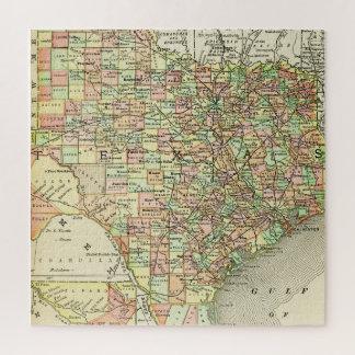 Puzzle État solitaire coloré Alamo d'étoile de carte