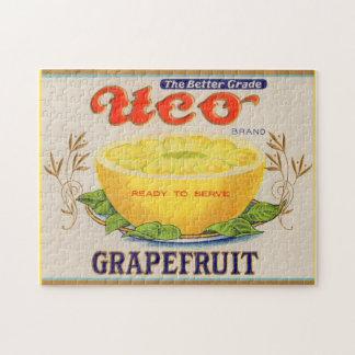 Puzzle étiquette de pamplemousse de marque d'Uco des