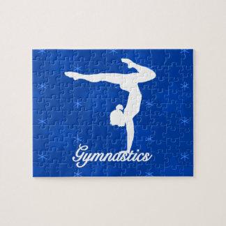 Puzzle Étoiles bleues de fille de gymnastique