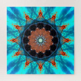 Puzzle Étoiles tropicales de mandala