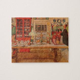 Puzzle Être prêt pour un jeu des cartes par Carl Larsson