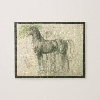 Puzzle Étude d'un cheval par Edgar Degas, beaux-arts