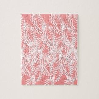 Puzzle Exotico de blanc de rose de paumes de conception