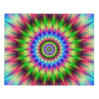Puzzle Explosion en épi de couleur