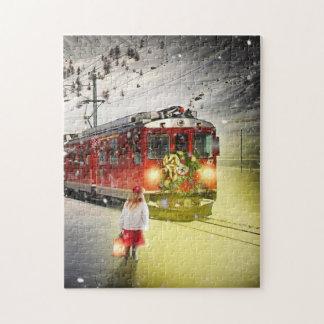 Puzzle Express de Pôle Nord - train de Noël - train de