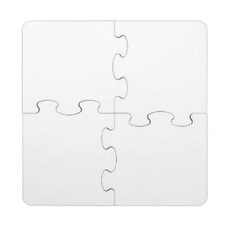 Puzzle fait sur commande de dessous de verre dessous de verre puzzle