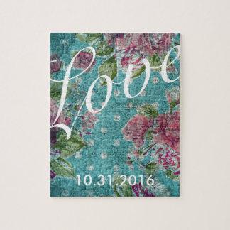 Puzzle fait sur commande floral vintage de date