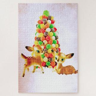 Puzzle Faons vintages par l'arbre de Noël de boule de