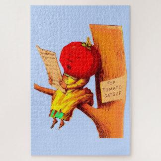 Puzzle Femme commerciale victorienne de tête de tomate de