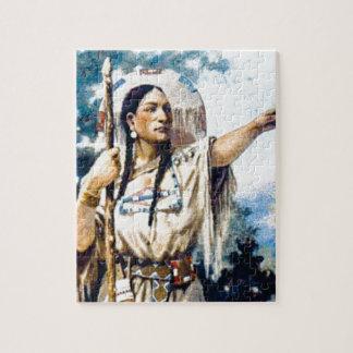 Puzzle femme indienne de squaw