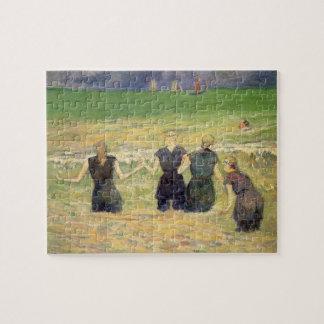Puzzle Femmes baignant Dieppe par Paul Gauguin