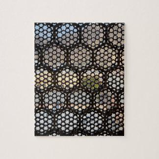 Puzzle Fenêtre géométrique de trellis, Inde