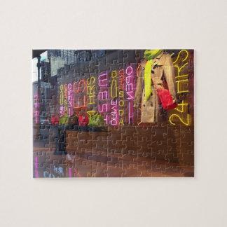 Puzzle Fenêtre New York NYC de magasin de lampes au néon