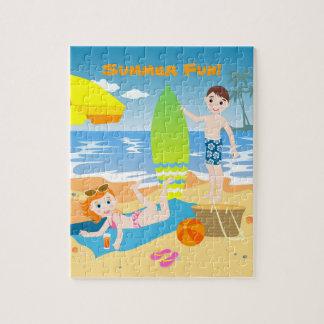 Puzzle Fête d'anniversaire de plage pour des enfants