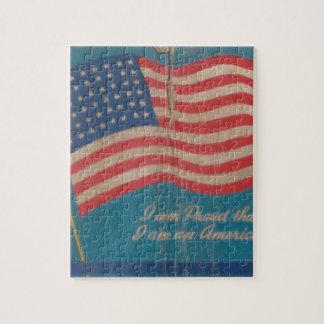 Puzzle Fier vintage d'être copie patriotique américaine