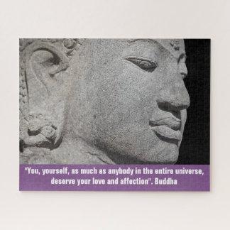 Puzzle Fin de sculpture en Bouddha et de citation