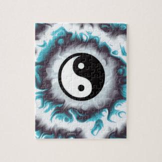 Puzzle Flamme de Yin Yang Teal