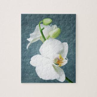 Puzzle Fleur blanche d'orchidée de zen