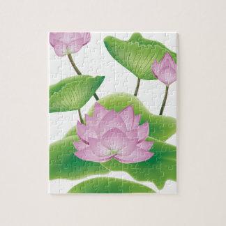 Puzzle Fleur de Lotus avec le feuille