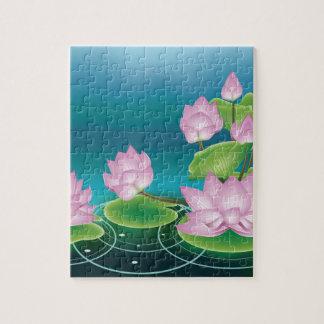 Puzzle Fleur de Lotus avec le feuille 2