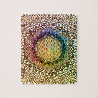 Puzzle Fleur de mandala de méditation de yoga de Lotus OM