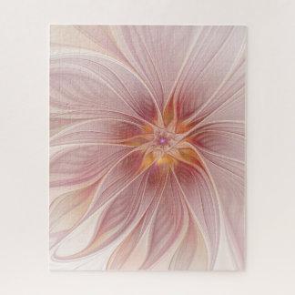 Puzzle Fleur moderne d'abrégé sur floral rose mol rêve
