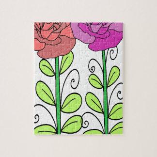 Puzzle Fleur rose