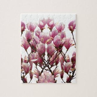 Puzzle Fleur rose de floraison de ressort de magnolias