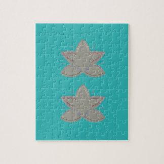 Puzzle Fleurs de lotus bleu grises
