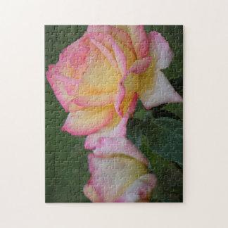 Puzzle Fleurs roses de paix