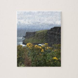 Puzzle Fleurs sur les falaises de Moher