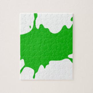 Puzzle Floc vert de boue