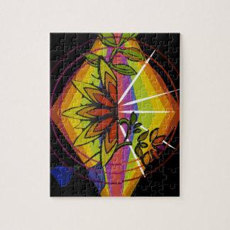 Puzzle Floral brillant dans l'ordre d'arc-en-ciel