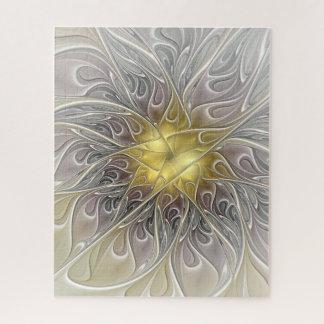 Puzzle Flourish avec la fleur abstraite moderne de