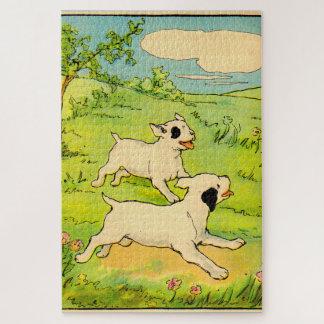 Puzzle fonctionnement de 1914 deux chiens