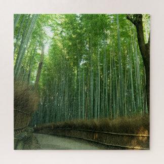 Puzzle Forrest en bambou dans Arashiyama, Sagano, Kyoto,