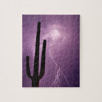 Puzzle Foudre et cactus pourpres, AZ