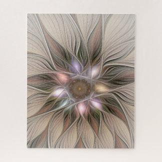 Puzzle Fractale florale beige de Brown d'abrégé sur