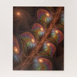 Puzzle Fractale moderne abstraite fluorescente colorée de