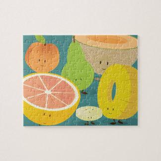 Puzzle Fruit de sourire recueillant la casse-tête de |