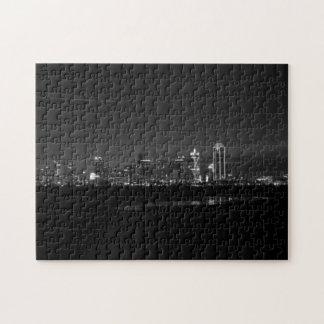 Puzzle Gamme de gris de Pano d'aube d'horizon de Dallas