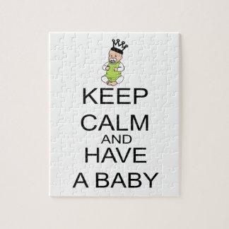 Puzzle Gardez le calme et ayez un bébé
