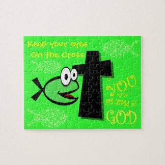 Puzzle Gardez vos yeux sur la croix