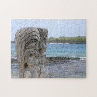 Puzzle Gardiens de Tiki dans Kona, Hawaï