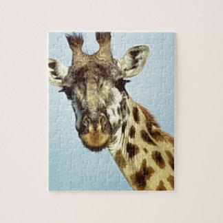 Puzzle girafe drôle