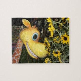 Puzzle Girafe et les marguerites